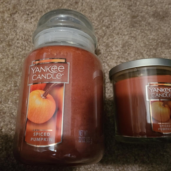 New Spiced Pumpkin Yankee candles